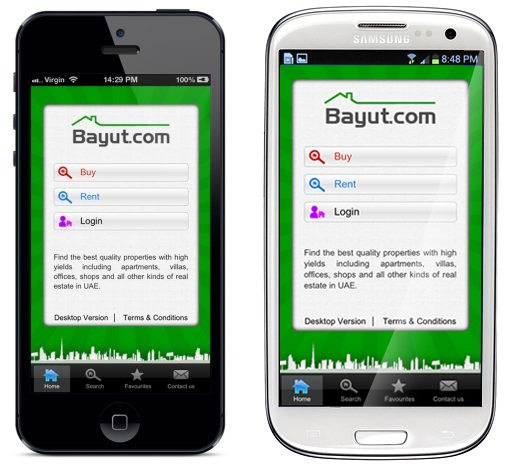 Bayut mobile website