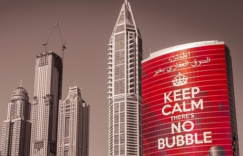 Keep calm there's no bubble