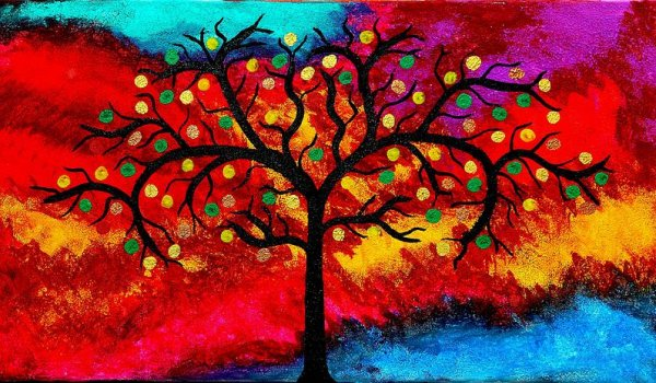 best-art-choice-award-original-abstract-oil-painting-modern-trees-contemporary-home-deco-gallery-emma-lambert