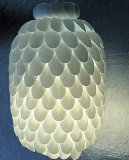 plastic spoon chandelier 9